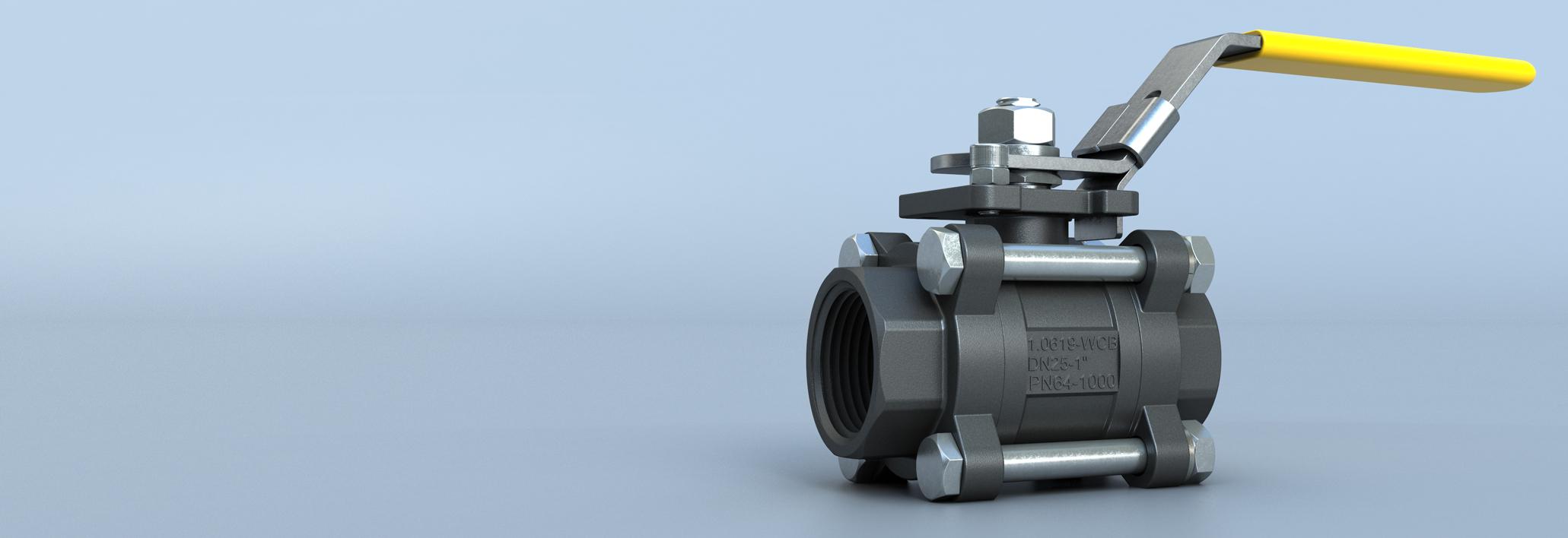 Válvula de esfera  de 3 peças Flow-Tek daBray International