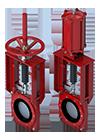 Válvula de lama guilhotina bidirecional da Série 768 - Miniatura
