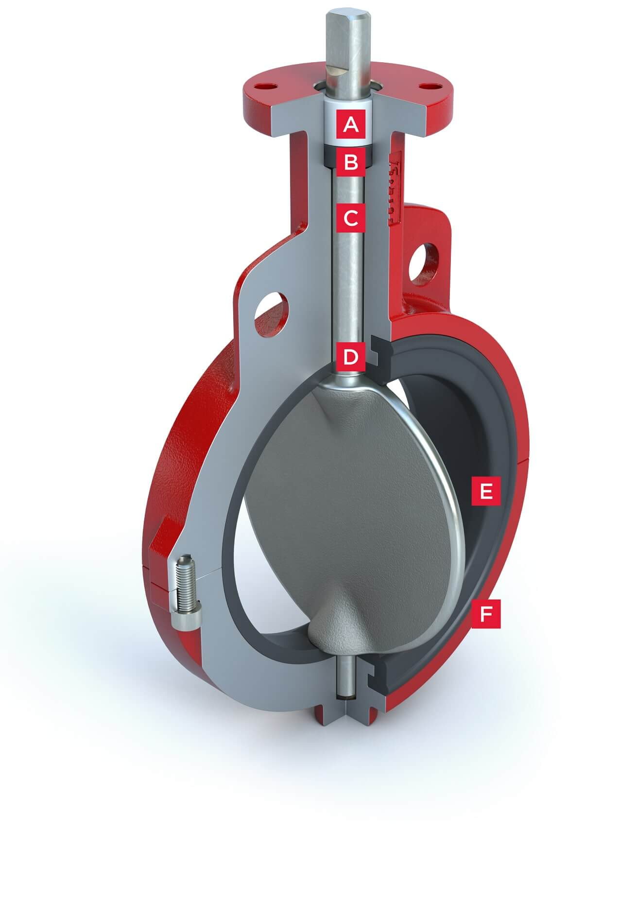 Resilient Seated Butterfly Valve Series 20-21 Features