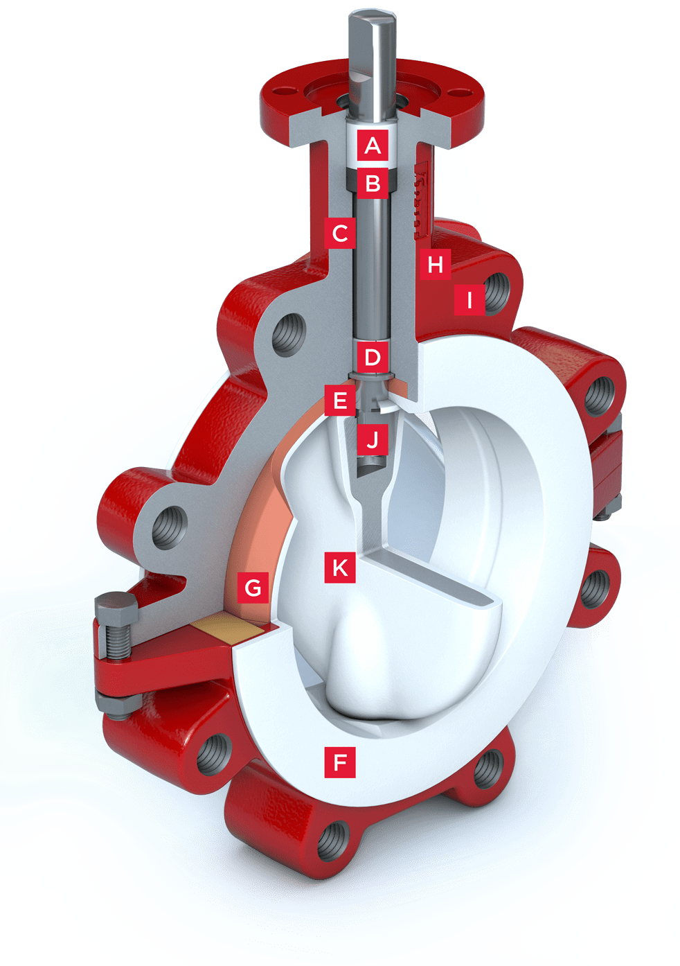 PTFE Lined Butterfly Valve S22-23 Features